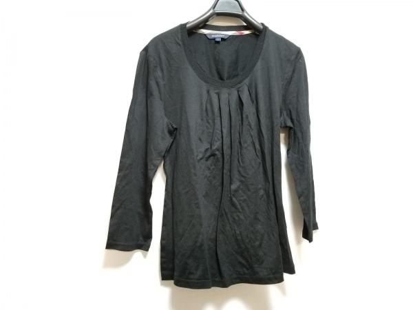 Burberry LONDON(バーバリーロンドン) 七分袖カットソー サイズ2 M レディース 黒
