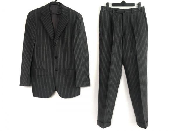 BEAMS F(ビームスエフ) シングルスーツ メンズ美品  ダークグレー×アイボリー
