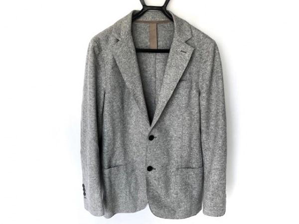 eleventy(イレブンティ) ジャケット サイズ46 XL メンズ ライトグレー×グレージュ