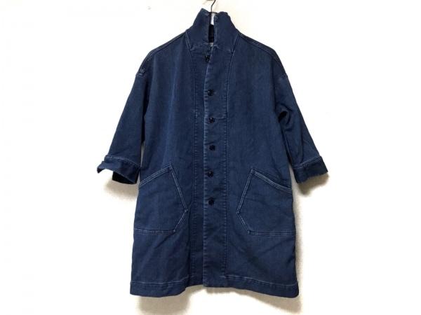 OMNIGOD(オムニゴッド) コート サイズ2 M レディース ブルー 冬物/デニム