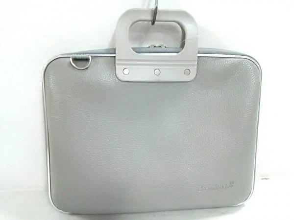 Bombata(ボンバータ) ビジネスバッグ美品  ライトグレー レザー×プラスチック