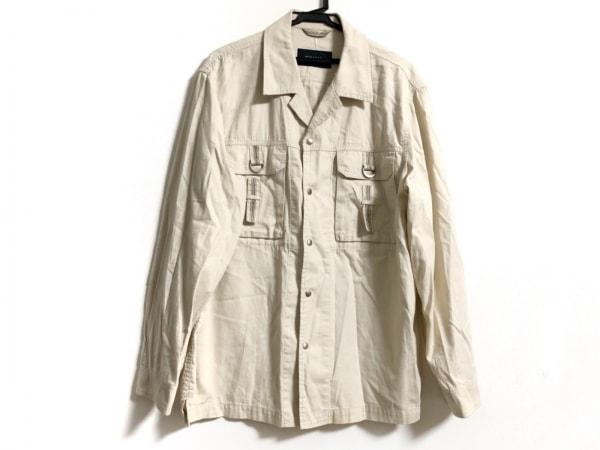 バーバリーロンドン 長袖シャツ サイズLL メンズ ベージュ×白×マルチ