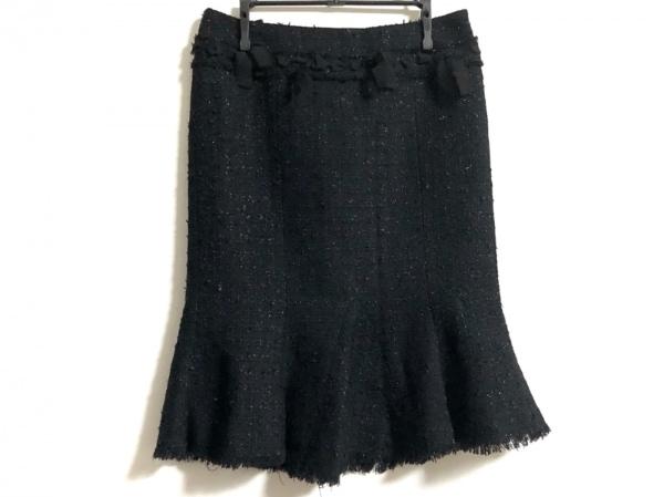 NARACAMICIE(ナラカミーチェ) スカート サイズ0 XS レディース美品  黒 リボン/ラメ