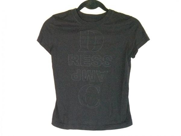DRESS CAMP(ドレスキャンプ) 半袖Tシャツ サイズ38 M レディース 黒×ダークグレー
