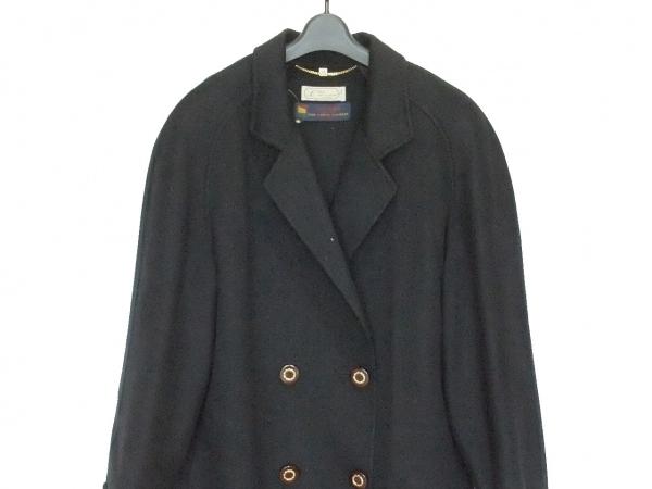 COLOMBO(コロンボ) コート サイズ44 L レディース美品  黒 カシミヤ/冬物