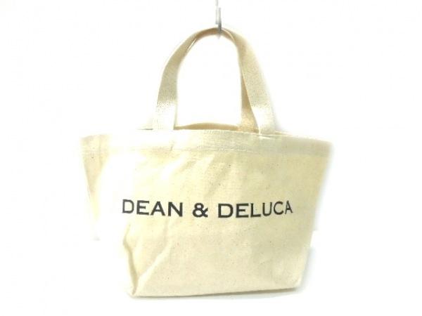 DEAN&DELUCA(ディーンアンドデルーカ) トートバッグ アイボリー×黒 キャンバス