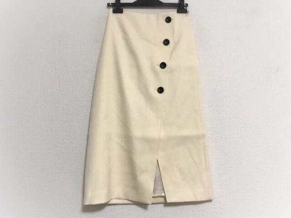 NOBLE(ノーブル) スカート サイズ36 S レディース美品  アイボリー 巻きスカート風