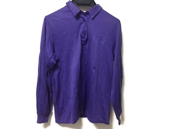 クリスチャンディオールスポーツ 長袖ポロシャツ サイズM レディース パープル