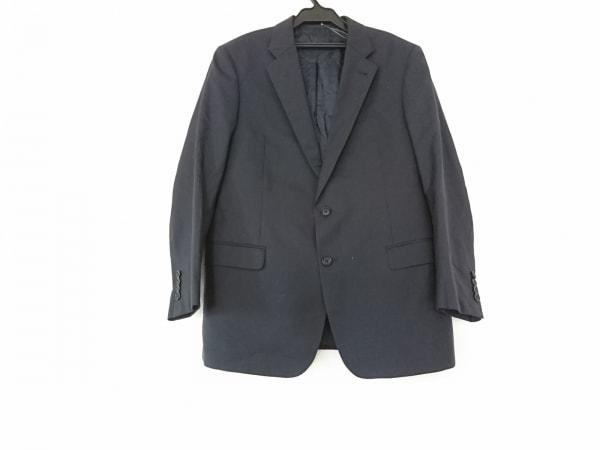 アルマーニコレッツォーニ ジャケット メンズ ダークネイビー×ネイビー ストライプ