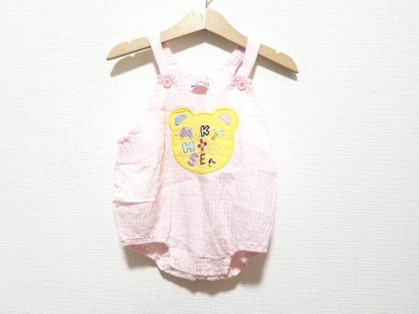 miki HOUSE(ミキハウス) オールインワン サイズ80 レディース ピンク×白×マルチ