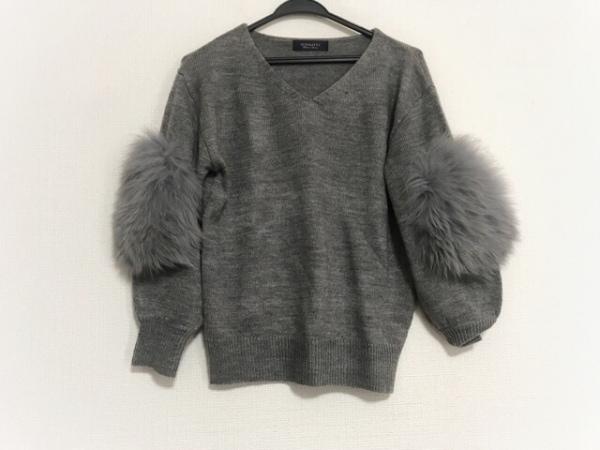 JUSGLITTY(ジャスグリッティー) 長袖セーター サイズ2 M レディース美品  グレー