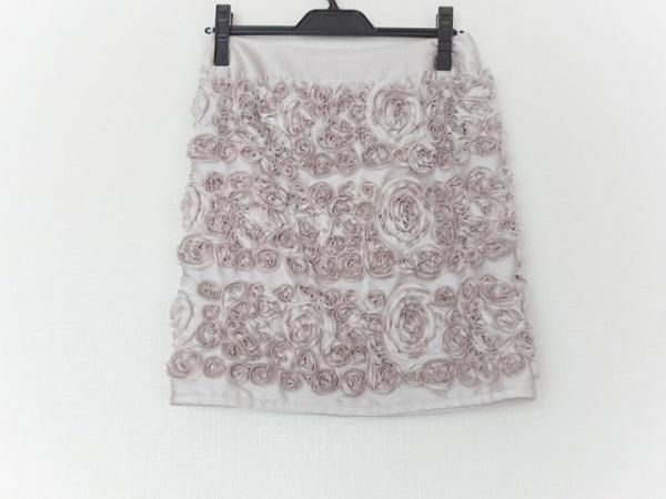 MATERIA(マテリア) スカート サイズ36 S レディース美品  ライトグレー 花柄