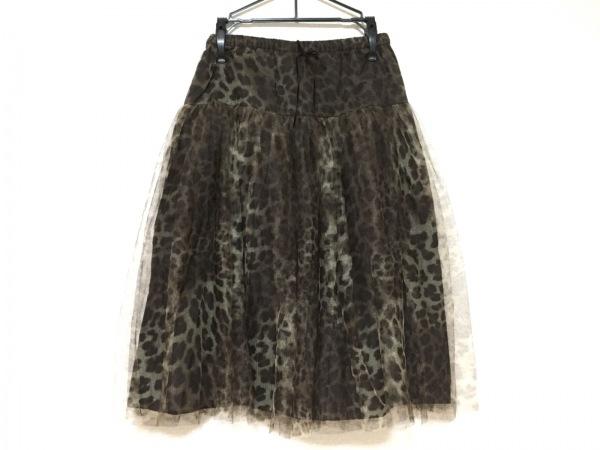 ビリティス スカート サイズ36 S レディース美品  ブラウン×ダークグリーン 豹柄