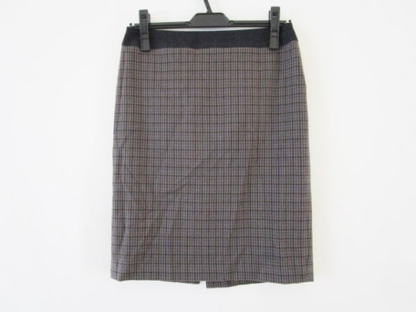 ジユウク スカート サイズ38 M レディース美品  グレー×ダークグレー×マルチ