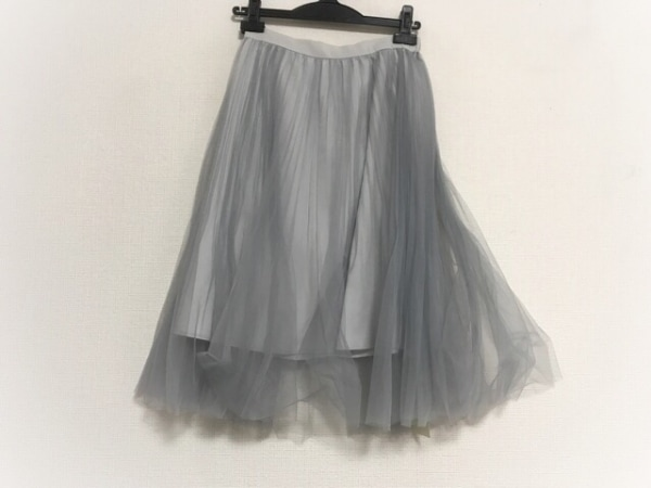 フレイアイディー スカート サイズ1 S レディース美品  ライトブルー×ライトグレー