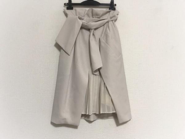フレイアイディー スカート サイズ0 XS レディース美品  ベージュ×アイボリー