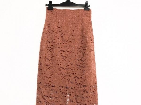 NOBLE(ノーブル) スカート サイズ34 S レディース美品  ブラウン レース/花柄