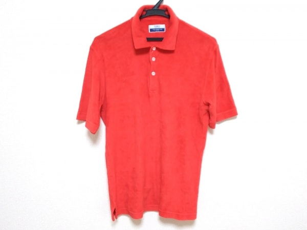FEDELI(フェデリ) 半袖ポロシャツ サイズ50 メンズ レッド TIE YOUR TIE 綿