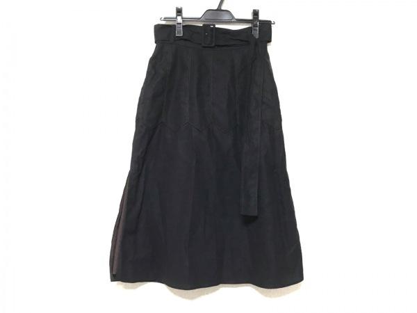 AKANE UTSUNOMIYA(アカネ ウツノミヤ) スカート サイズ36 S レディース 黒×ブラウン