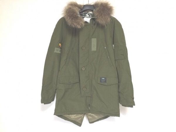 reversal バッグ(リバーサル) コート サイズL メンズ美品  カーキ ラクーン/冬物