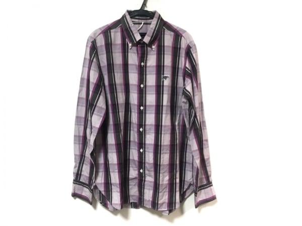 SCYE(サイ) 長袖シャツ サイズ40 M メンズ美品  パープル×ダークブラウン