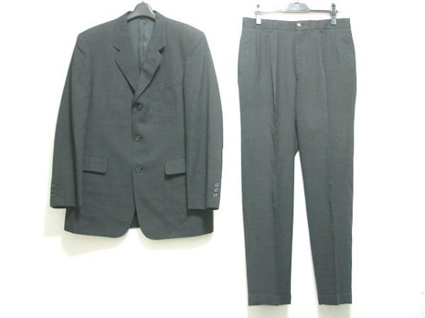エーエーアールヨウジヤマモト シングルスーツ メンズ 黒×グレー ネーム刺繍