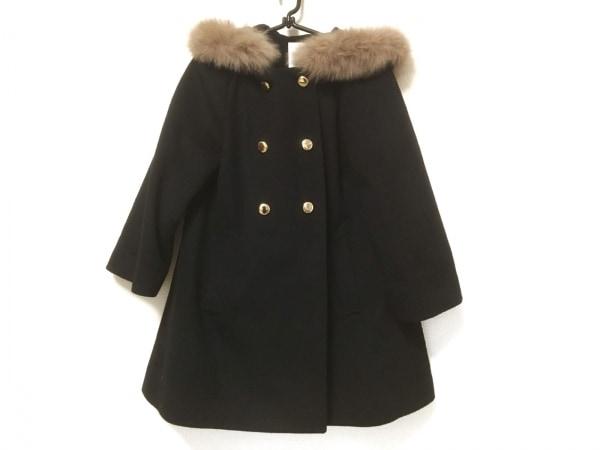 Bon mercerie(ボンメルスリー) コート サイズ36 S レディース 黒 ファー/冬物