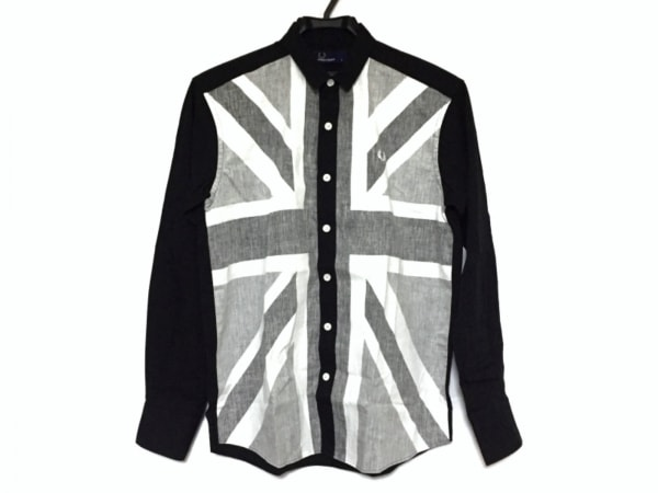 FRED PERRY(フレッドペリー) 長袖シャツ サイズS メンズ美品  黒×グレー×白