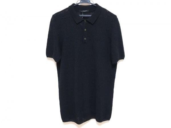 ROBERTO COLLINA(ロベルトコリーナ) 半袖ポロシャツ サイズ48 M メンズ 黒