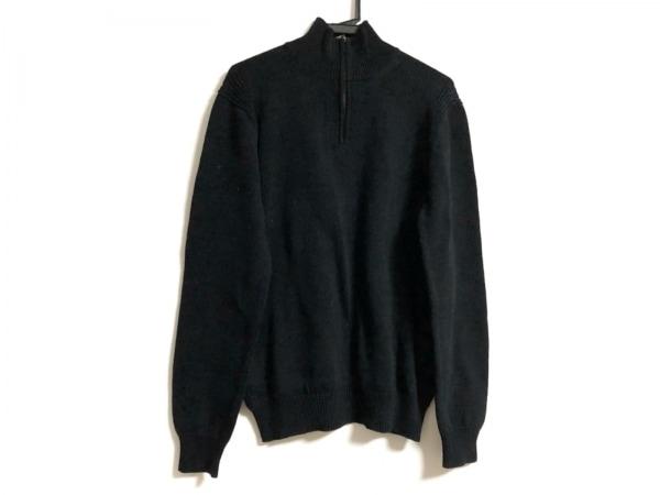 theory(セオリー) 長袖セーター サイズ40 M レディース 黒 ハイネック/ハーフジップ