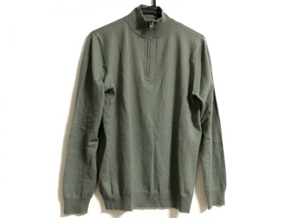 セオリー 長袖セーター サイズ40 M レディース カーキ ハイネック/ハーフジップ