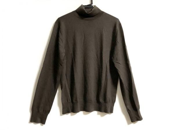 theory(セオリー) 長袖セーター サイズ40 M レディース カーキ タートルネック