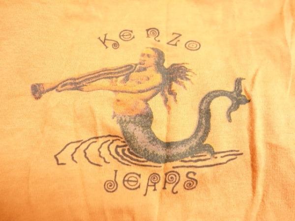KENZO(ケンゾー) タンクトップ サイズF メンズ オレンジ×黒×グレージュ jeans