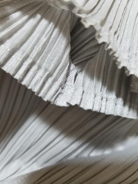 プリーツプリーズ 半袖カットソー サイズ3 L レディース美品  ライトグレー プリーツ
