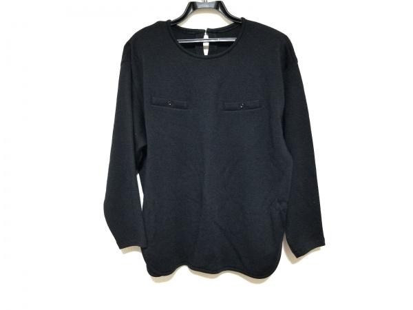 Burberry's(バーバリーズ) 長袖カットソー サイズ9 M レディース美品  黒 肩パッド