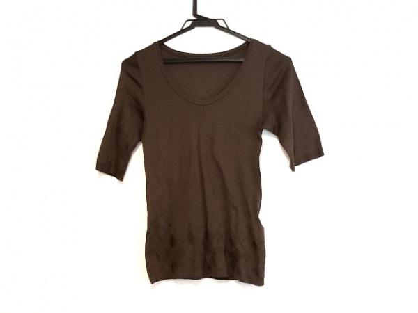 HaaT HeaRT(ハート) 半袖セーター サイズ2 M レディース ダークブラウン