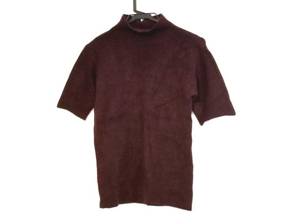 HaaT HeaRT(ハート) 半袖セーター サイズ2 M レディース ボルドー