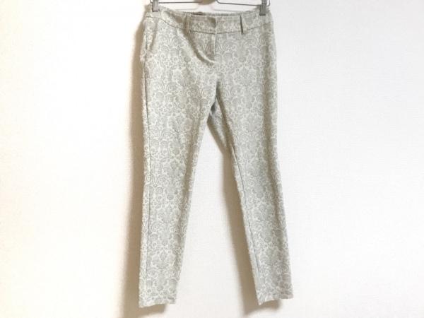 MARLENEDAM(マーレンダム) パンツ サイズ40 M レディース美品  アイボリー×ブラウン