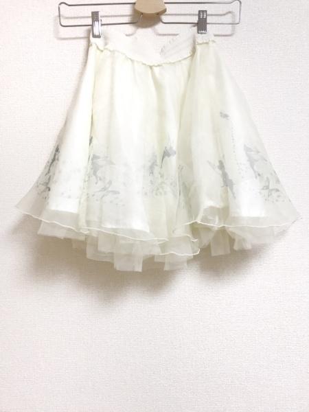 シークレットハニー ミニスカート サイズ2 M レディース美品  白×グリーン