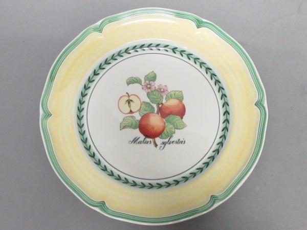 Villeroy&Boch(ビレロイ&ボッホ) プレート新品同様  イエロー×グリーン×マルチ 陶器