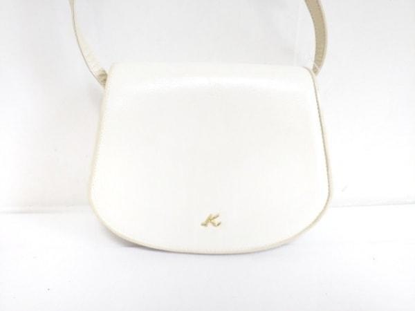 KITAMURA(キタムラ) ショルダーバッグ 白×アイボリー レザー