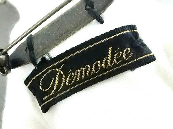 Demodee(デモデ) キーホルダー(チャーム)美品  アイボリー×白×マルチ