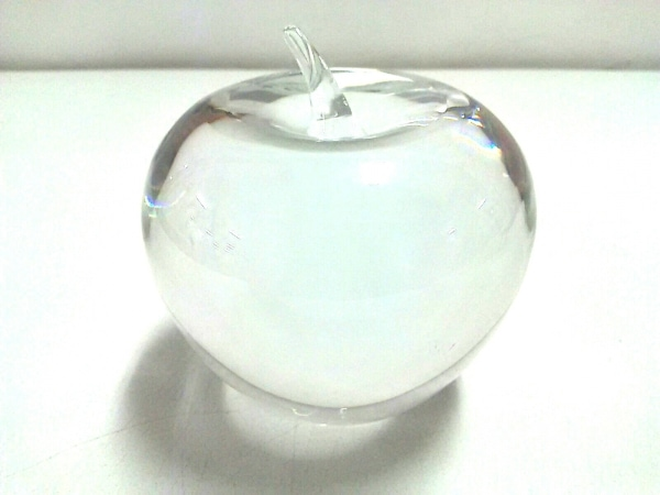 TIFFANY&Co.(ティファニー) 小物美品  クリア ペーパーウェイト/リンゴ ガラス