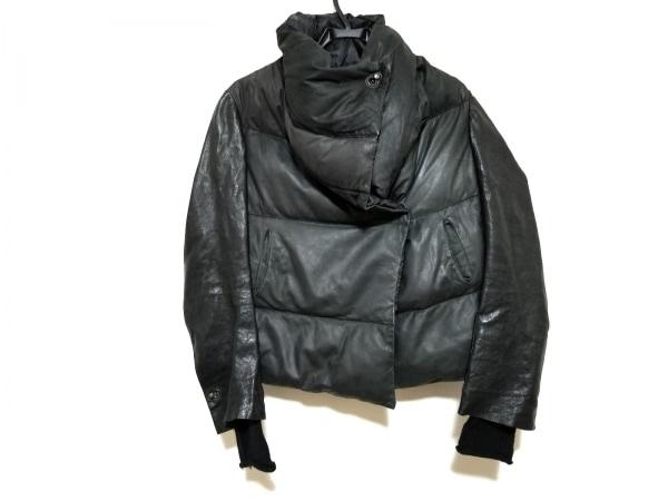 アイザックセラム ダウンジャケット サイズ36 S レディース美品  黒 レザー