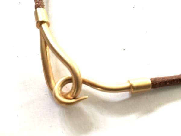 HERMES(エルメス) チョーカー美品  ジャンボ レザー×金属素材 ブラウン×ゴールド