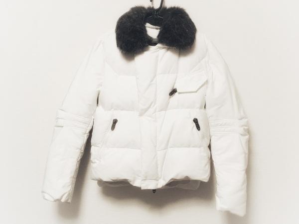 エルマノシェルビーノ ダウンジャケット サイズ44 L メンズ 白 ジップアップ/冬物