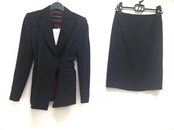 ボナジョルナータ スカートスーツ サイズ11 M レディース 黒 肩パッド