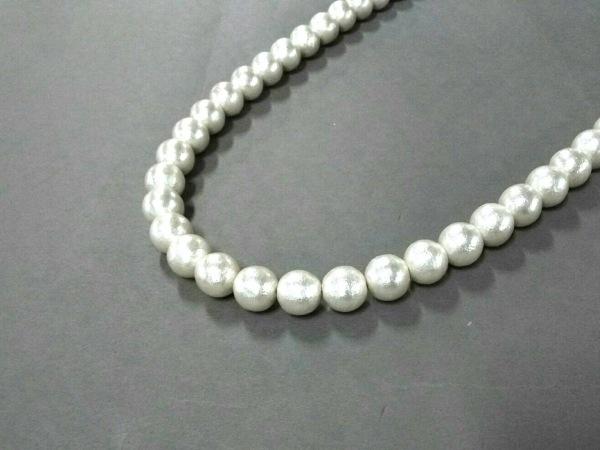 ven DOME(ヴァンドーム) ネックレス美品  フェイクパール×化学繊維 アイボリー×黒
