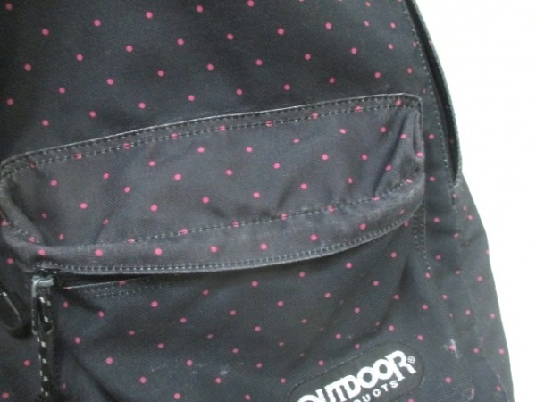 693df8803da0 ... OUTDOOR(アウトドア) リュックサック 黒×ピンク ドット柄 キャンバス ...