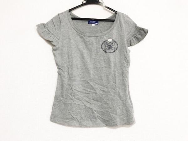 バーバリーブルーレーベル 半袖Tシャツ サイズ38 M レディース美品  グレー フリル